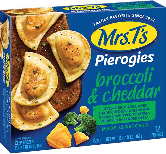 Queso Dip with Broccoli & Aged Cheddar Pierogies