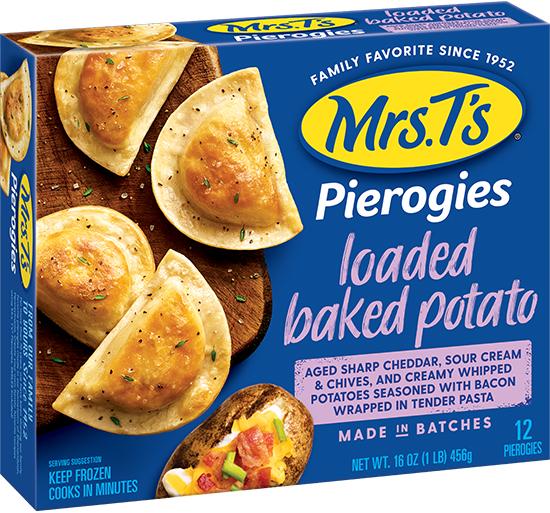 Loaded Baked Potato Pierogy Sheet Pan Mrs T S Pierogies