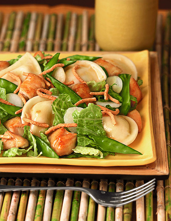 Mandarin Chicken Mini Pierogy Salad