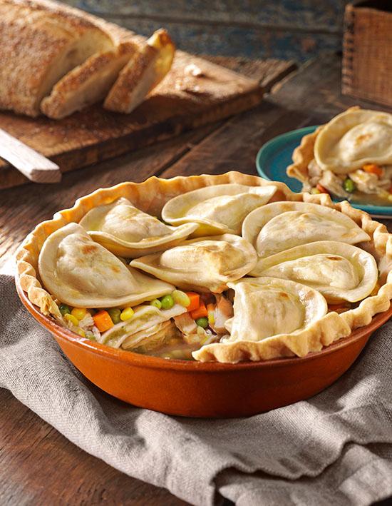 Deep Dish Pierogy Pot Pie