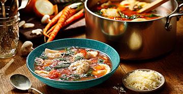 Minestrone Mini Pierogy Soup