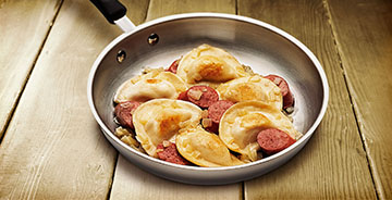 Classic Pierogies with Kielbasa
