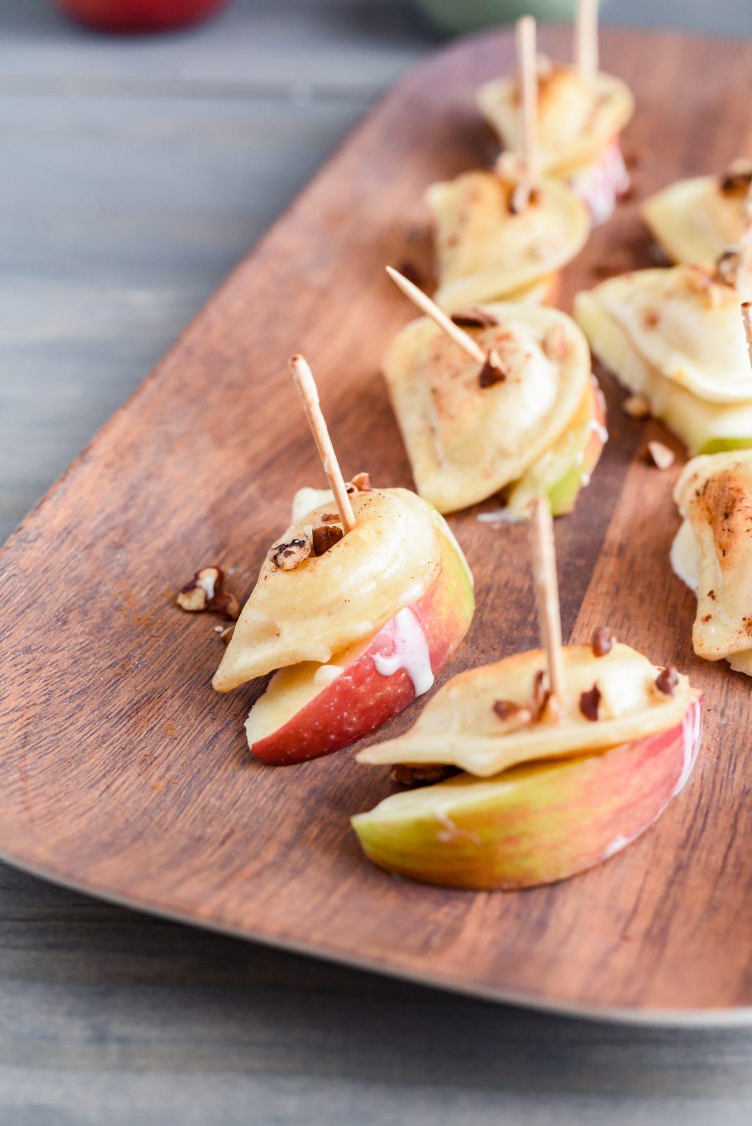 My Modern Cookery - Apple Pierogy Bites with Crème Fraîche