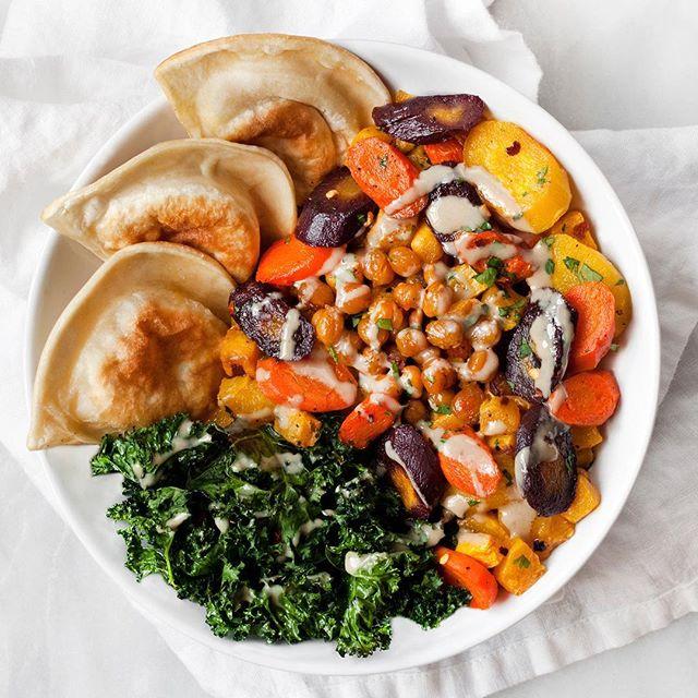 @lastingredient – Roasted Veggie & Pierogy Bowl