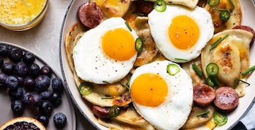 Pierogy and Kielbasa Skillet Brunch
