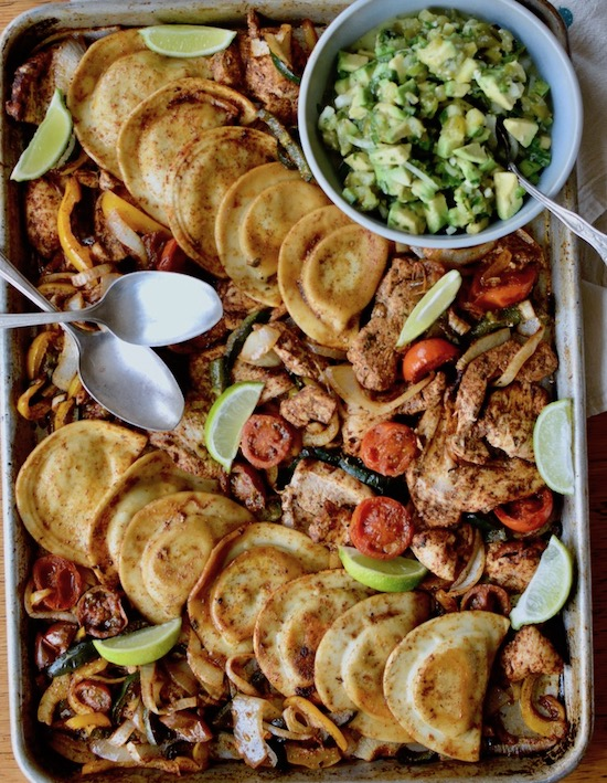 Chicken Fajita Pierogy Sheet Pan