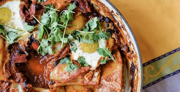 Mexican Baked Eggs with Pierogies