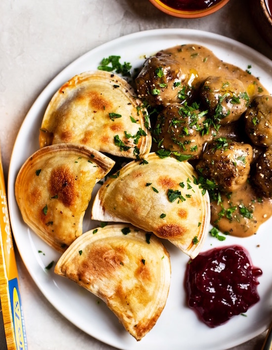 Swedish Meatballs and Pierogies