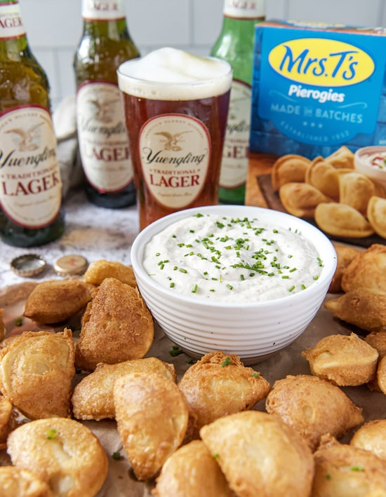 Yuengling Traditional Lager Battered Mini Pierogies