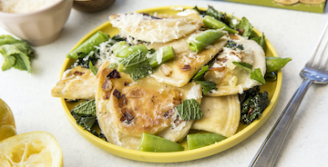 Lemon Garlic Parm Pierogies