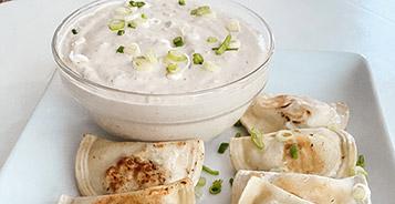 Sautéed Pierogies with Caramelized Onion Dip